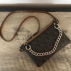 Michael Kors Bags - MICHAEL KORS MK Monogram FANNY PACK Chain BAG